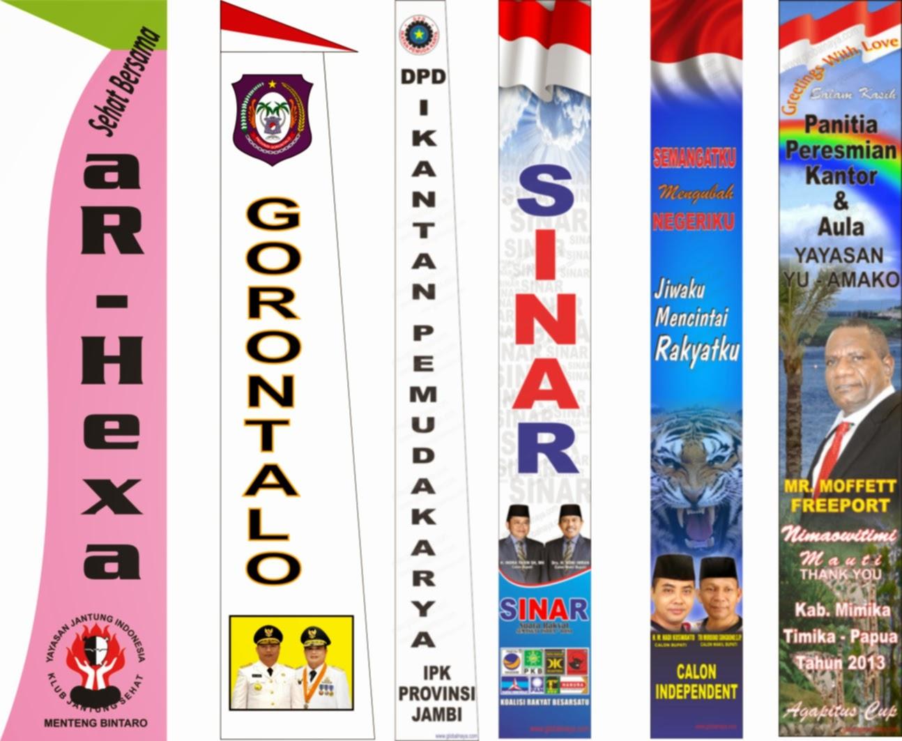 Contoh Umbul Umbul Partai Dan Caleg 2014 Maha Karya Advertising